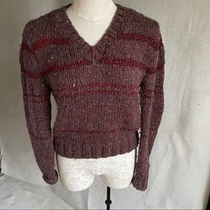 Vintage 70s M/L Handknitted Boho Hipster Sweater
